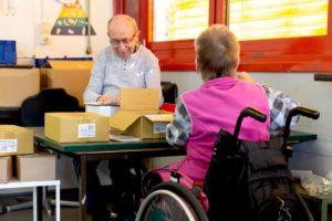 Abteilung Verpacken Behindertenwerkstatt Reinsdorf