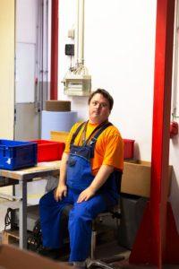 Mitarbeiter der Behindertenwerkstatt Reinsdorf
