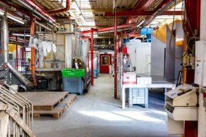 Abteilung Pulverbeschichten Behindertenwerk Reinsdorf
